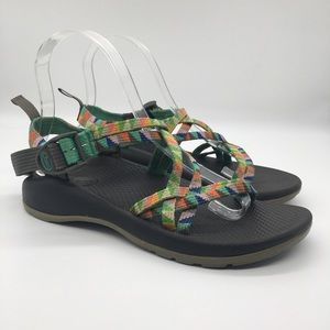 Chaco Girls Camper ZX/1 Ecotread Rainbow Sandals 4